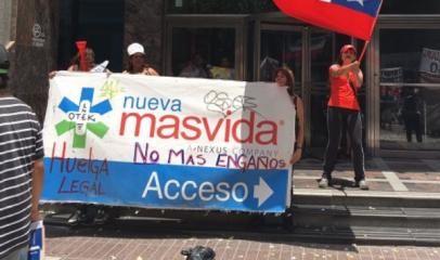 El lunes 26 de julio inician la huelga las y los trabajadores de Isapre Nueva Más Vida: Toda la solidaridad de la Federación de Sindicatos CCU